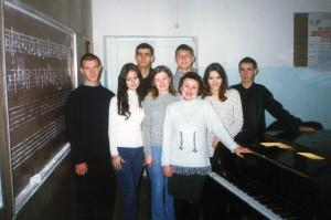 Со студентами музыкального училища